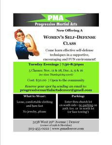 women's self-defense flyer